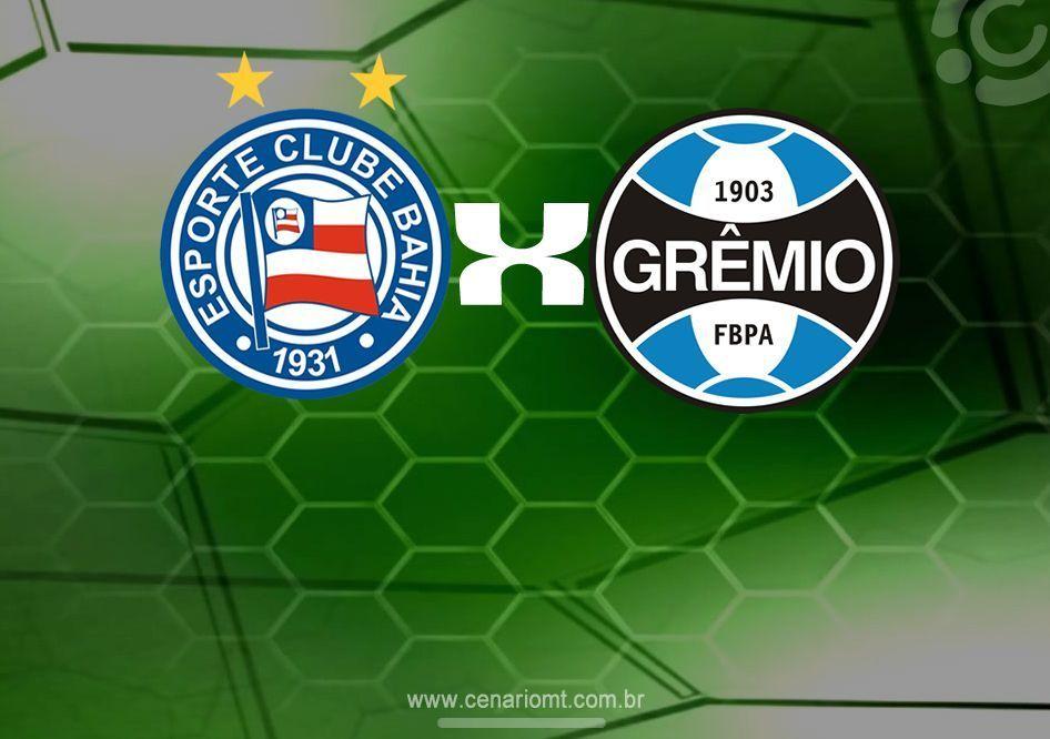 19h00 - Bahia x Grêmio