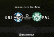 Grêmio e Palmeiras se enfrentam neste sábado, às 21h, na Arena Grêmio.