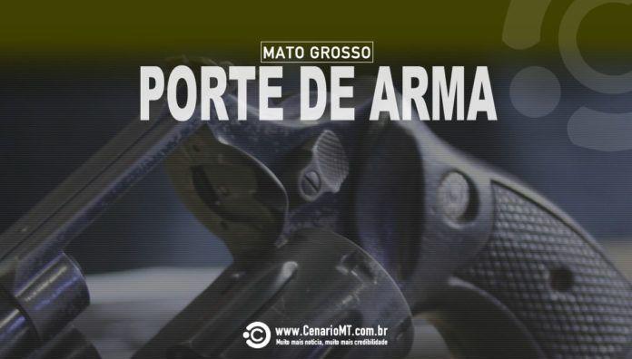 PORTE DE ARMA - FOTO/ARTE CENÁRIOMT.COM.BR