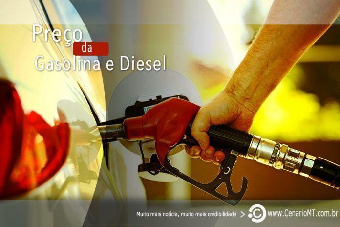 preco da gasolina e do diesel