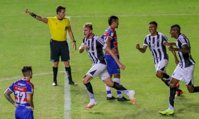 O jogo terminou em Fortaleza 0 x 1 Ceará e agora Ceará está na final da Copa do Nordeste.